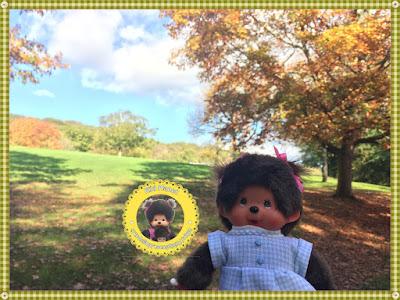 Diana la Monchhichi se promène au Parc de rouelles le havre