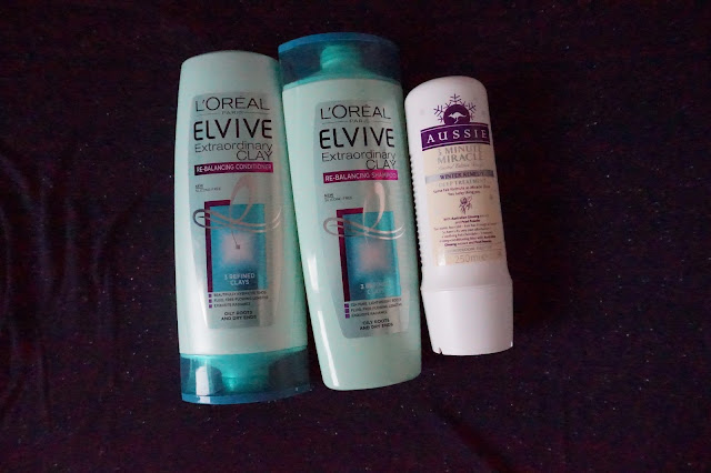L'Oreal Elvive, Extraordinary Clay, Aussie, 3 minute miracle