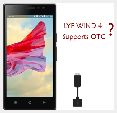 Lyf Wind 4 Supports OTG/How To Use Pen Drive Compatible