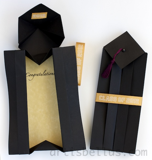 Make your own origami mortarboard (graduation cap) - YouTube | 532x503