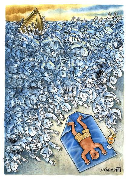 Kartun karya Jitet Koestana memenangi 19th Portocartoon Festival, 2017 dengan titel 2nd place.