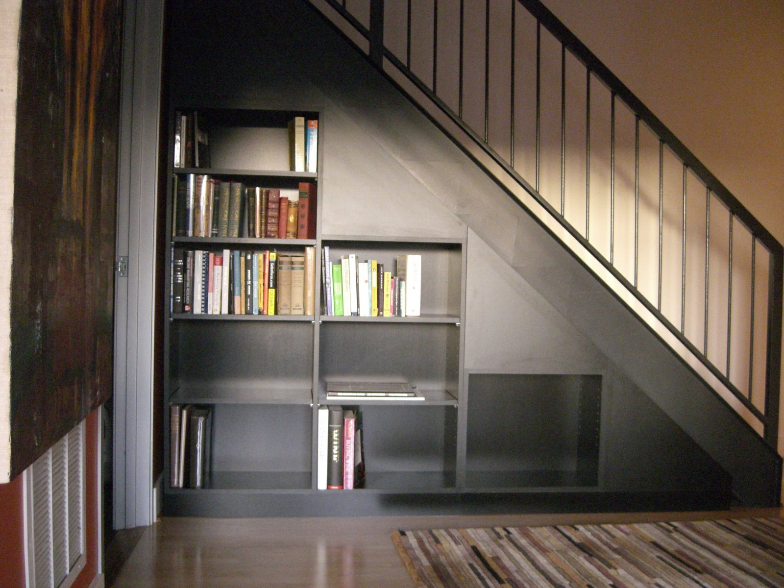 Under Stairs Bookcase In The Woodshop Under The Stairs