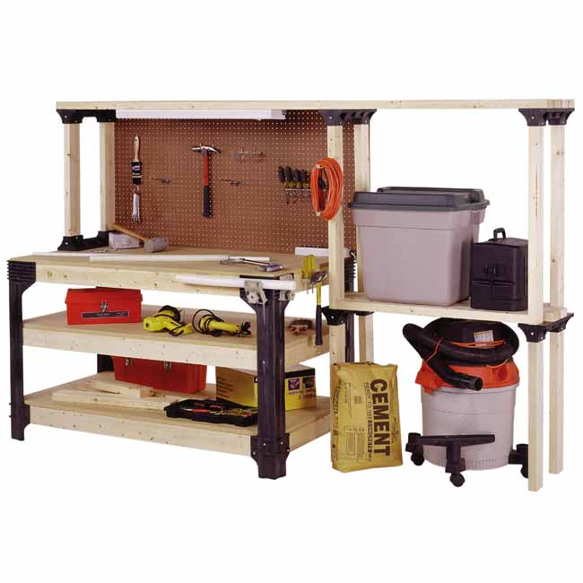 Workbench and Shelf Combo