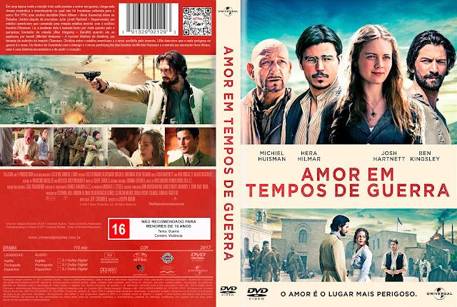 Capa DVD Amor em Tempos de Guerra [Exclusiva]