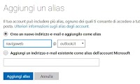 Creare Alias Email in Outlook, Gmail, Yahoo per aggiungere indirizzi di posta all'account
