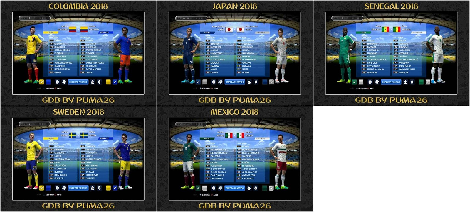 14978bdfd PES 2013 WC 2018 Kits-Pack Part-1