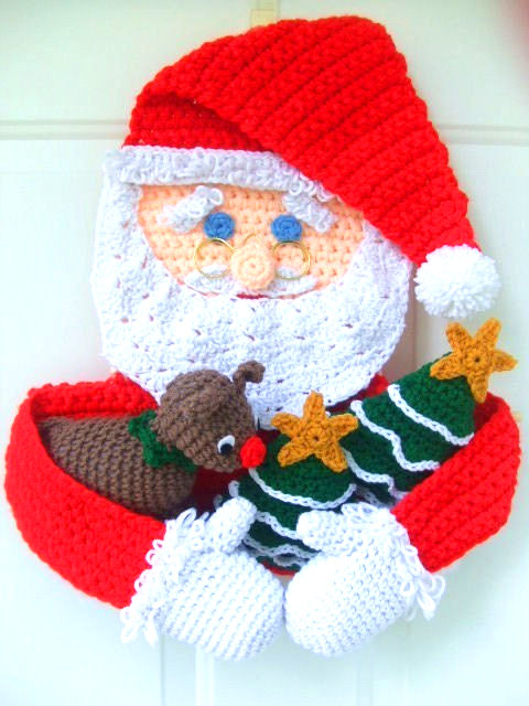Santa applique Crochet pattern