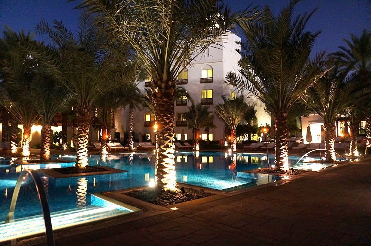 Euriental - fashion & luxury travel, Park Hyatt Dubai, pool at night