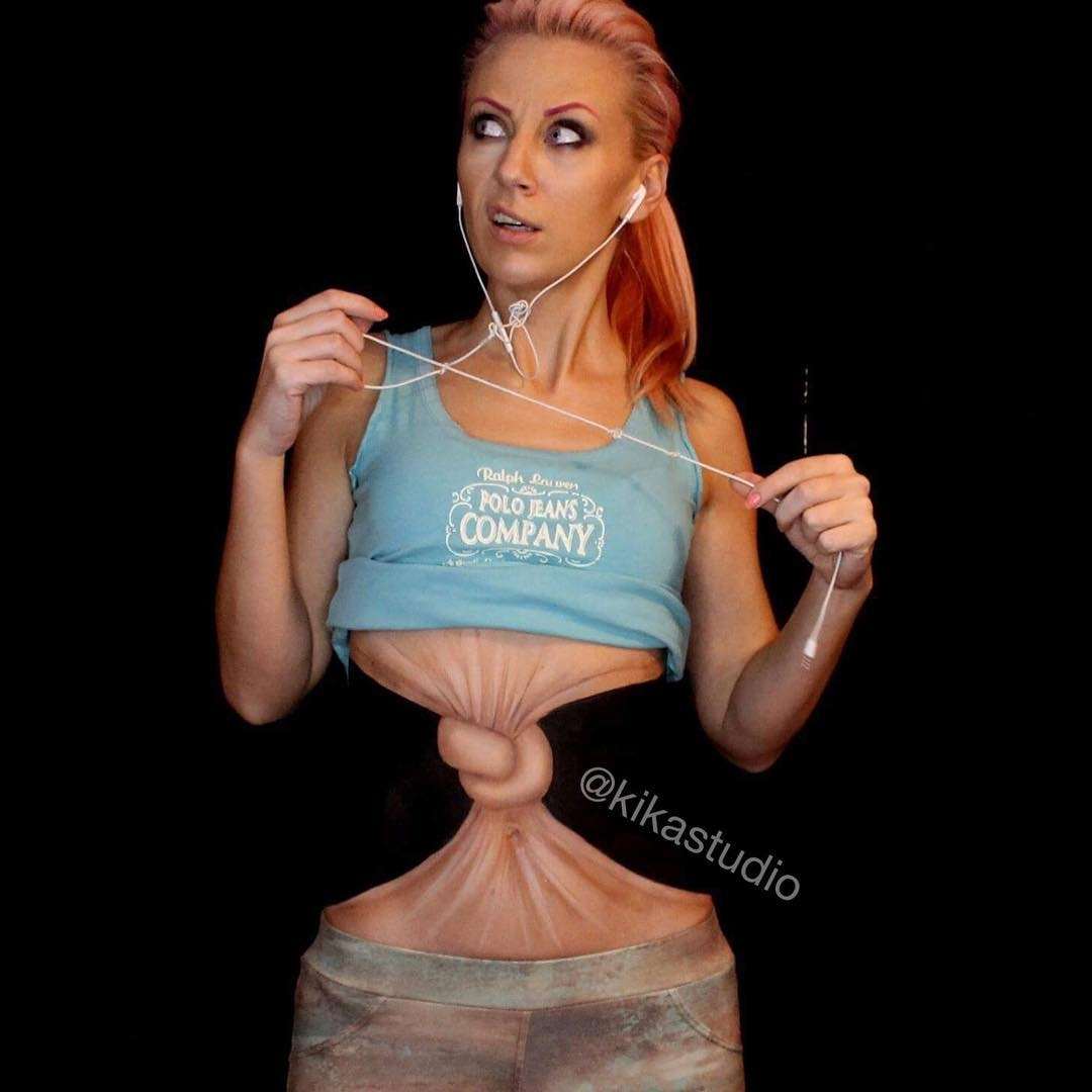 08-Knot-in-my-Stomach-Mirjana-Kika-Milosevic-Body-Painting-NO-Photoshop-come-see-the-Videos