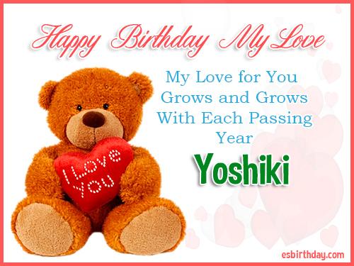 Yoshiki Happy Birthday My Love
