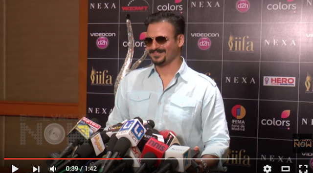 Vivek Oberoi's  press conference at IIFA came to an abrupt end when a journalist asked him about his bitter foe Salman Khan.   Vivek Oberoi, who is acting in RGV film Rai, which many describe as a good break for him, was eager to take questions. As the video shows, he stood on the stage wearing dark glasses and smiling.   It lasted till someone asked if he would patch up with Salman Khan ever. Vivek Oberoi ignored the question and walked out immediately.