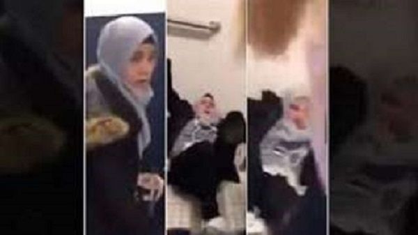 بالفيديو فتاة سورية تتعرض لاعتداء بالضرب من قبل فتاة أمريكية