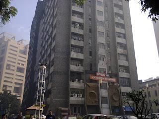 antariksh-bhavan-building-of-canaught-place-caught-fire-again