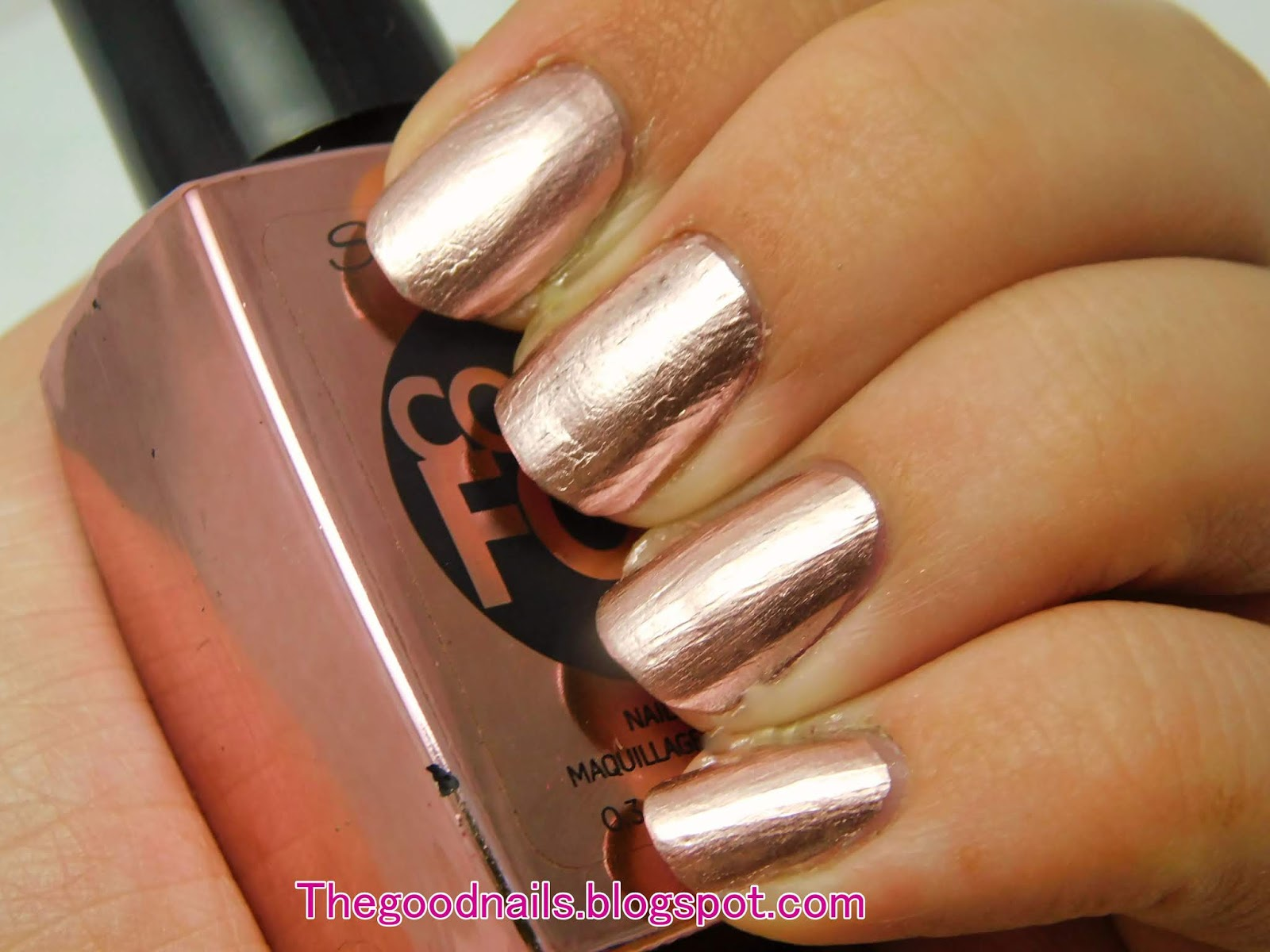 Sally Hansen Color Foil (Chrome) 'Rose Copper' Swatch and Review