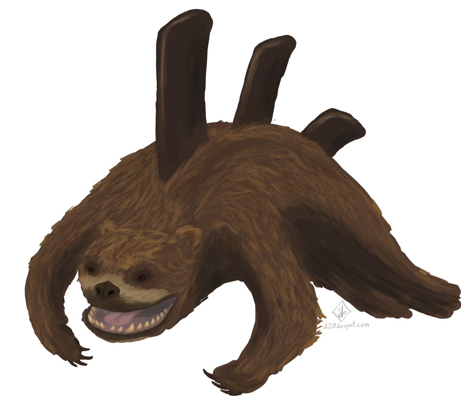 D20 Despot Monster Monday Sea Bear The Orca Hunting Ursid A vicious creature that lives in the ocean and attacks campers. d20 despot monster monday sea bear