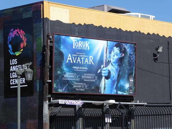 Avatar Toruk Cirque du Soleil billboard