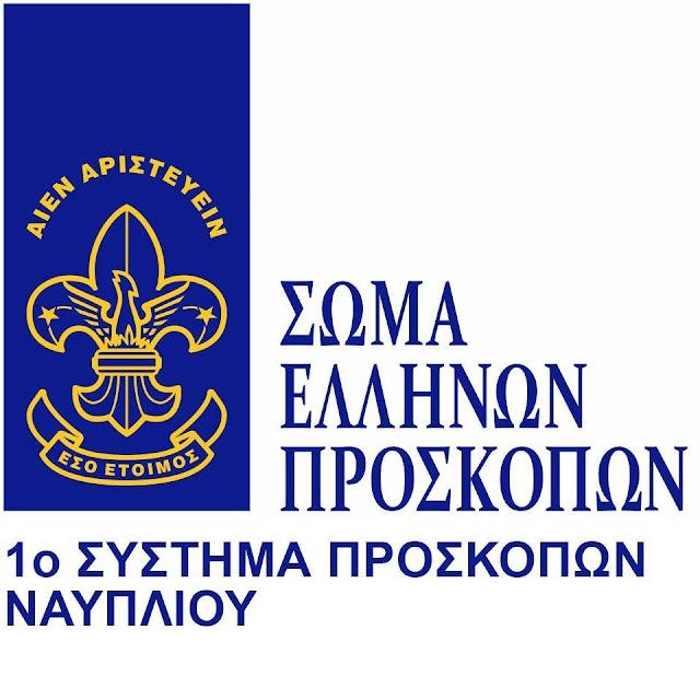 Συγκέντρωση βοήθειας προς του πυρόπληκτους από το 1ο σύστημα Προσκόπων Ναυπλίου
