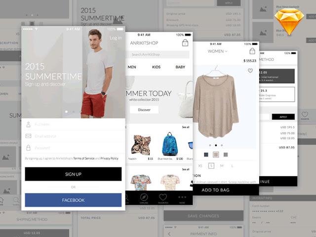 Anri Mobile eCommerce App UI Kit