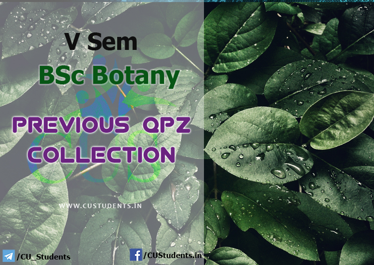 V Sem BSc Botany Previous Question Papers Collection