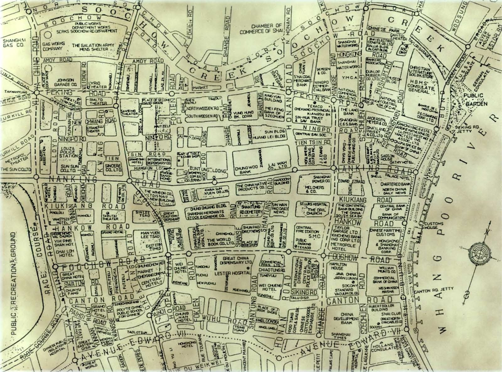 MapCortex Blog Shanghai City Center Map from the 19th Century
