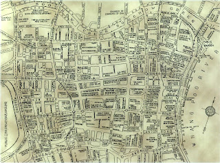 Shanghai City Center Map from the 19th Century