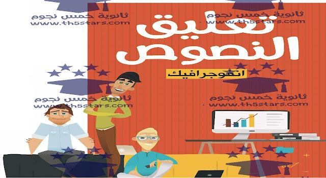 التعليق علي النصوص في مادة اللغة العربية لطلاب الثانوية العامة 2017
