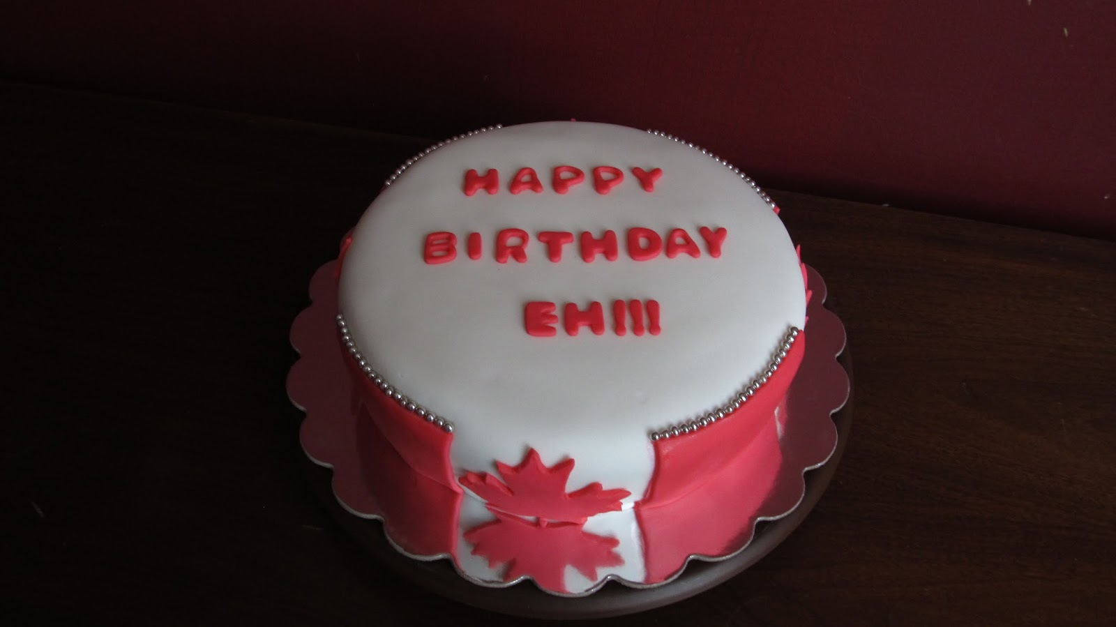 Cake Designs By Steph Canadian Birthday Cake