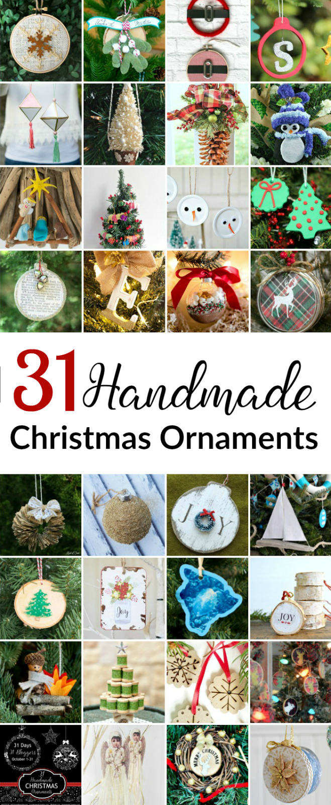 A Huge Collection Of 31 Homemade Ornaments What A Great Way To Get A  Personalized