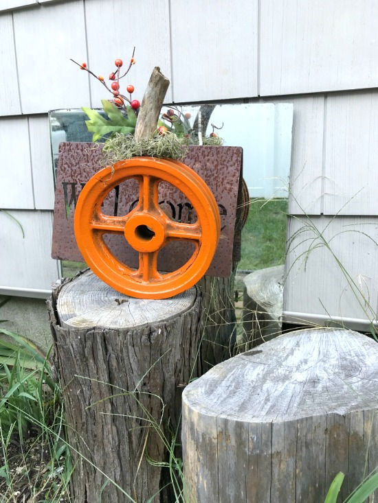 How to make a Metal Wheel Pumpkin