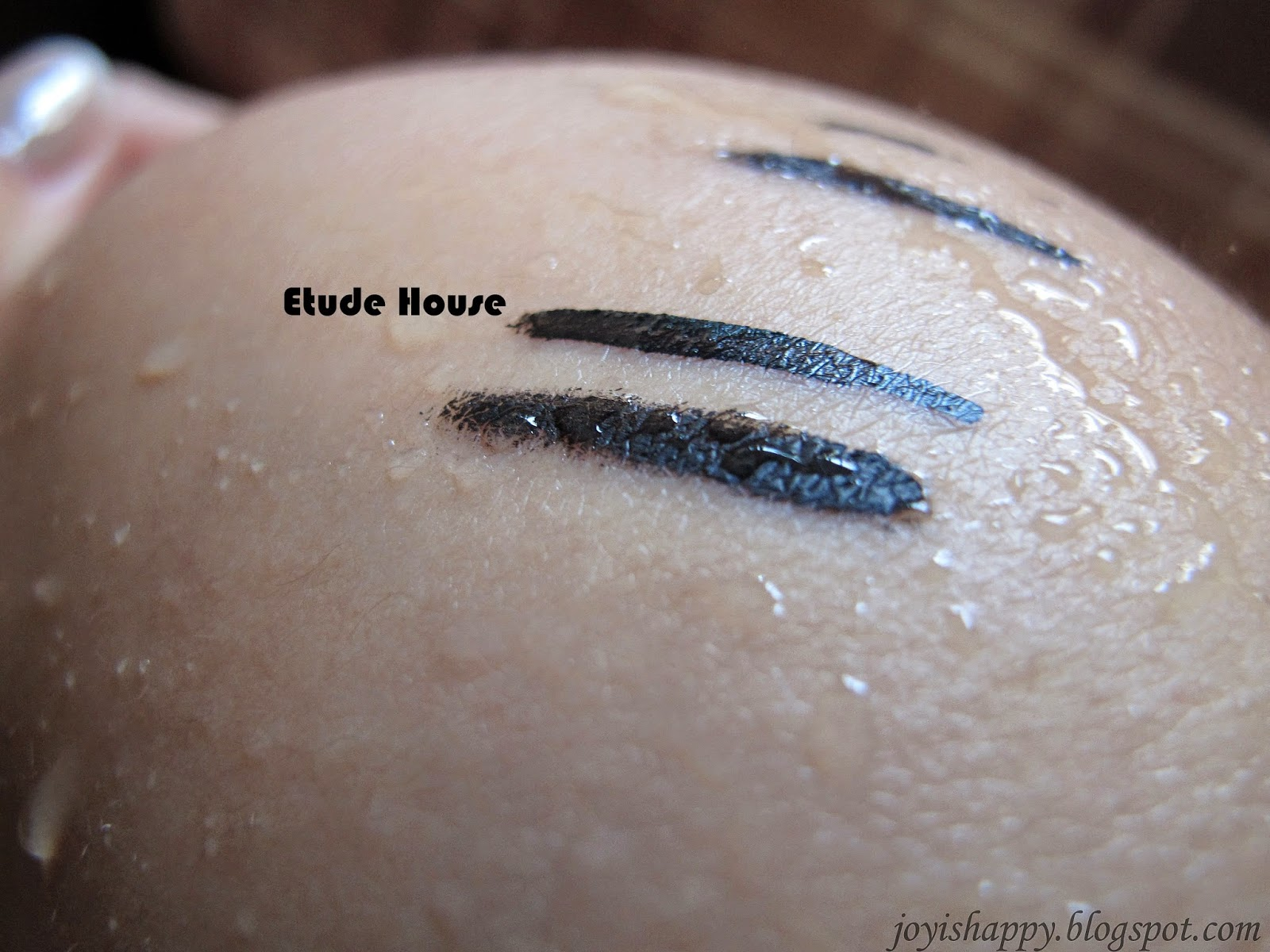 etude house eyeliner swatch