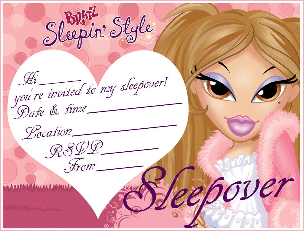 Printable Sleepover Birthday Invitations Gallery - Invitation ...