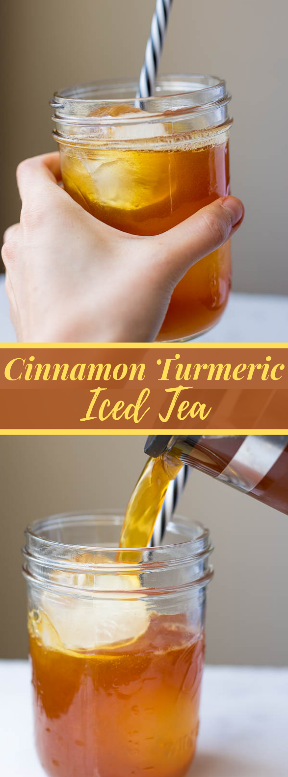 Cinnamon Turmeric Iced Tea (aka. golden iced tea) #drink #ice