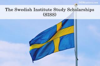 BEASISWA S2 FULL DI SWEDIA: SISS Masters Scholarships