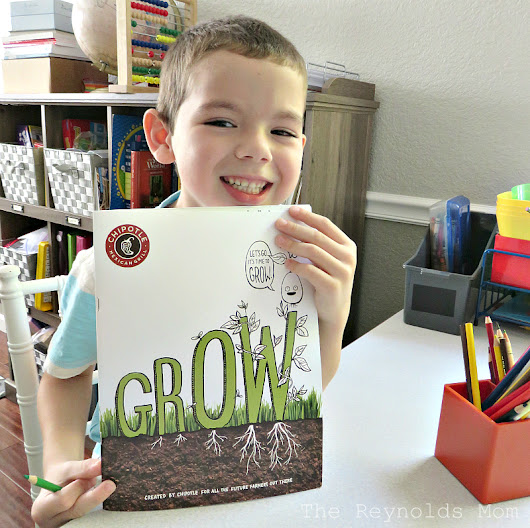The Reynolds Mom - Sacramento, Roseville, California Blogger: Kick Off Back To School Season with Chipotle's Grow Book + Catering {Giveaway - Ends 9/20}