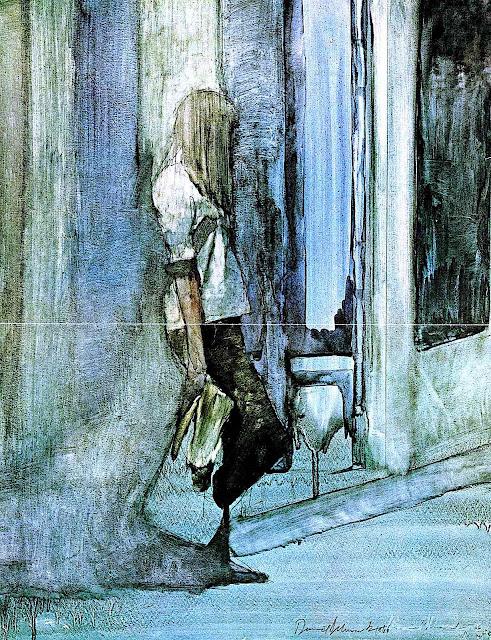 a Daniel Schwartz illustration in teal