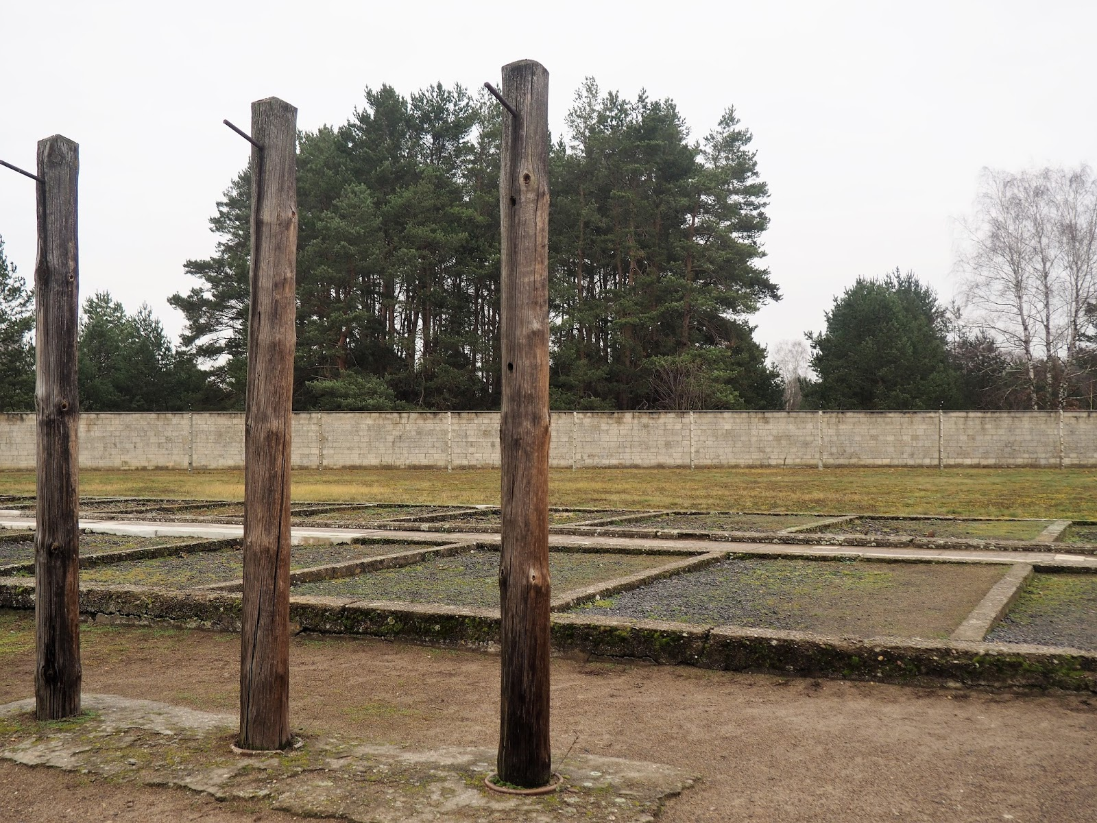 Sachsenhausen Concentration Camp torture poles