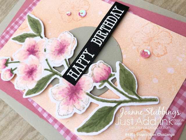 Jo's Stamping Spot - Just Add Ink Challenge #491 using Forever Blossoms stamp set by Stampin' Up!