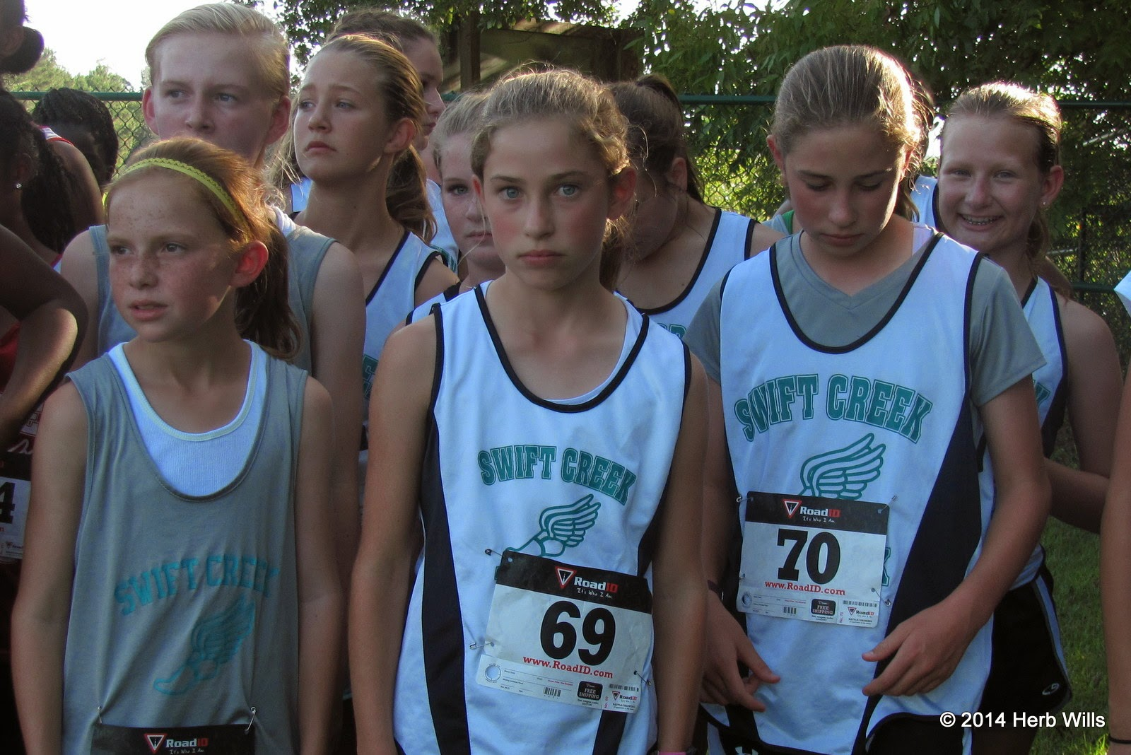 Swift Creek girls' cross-country team