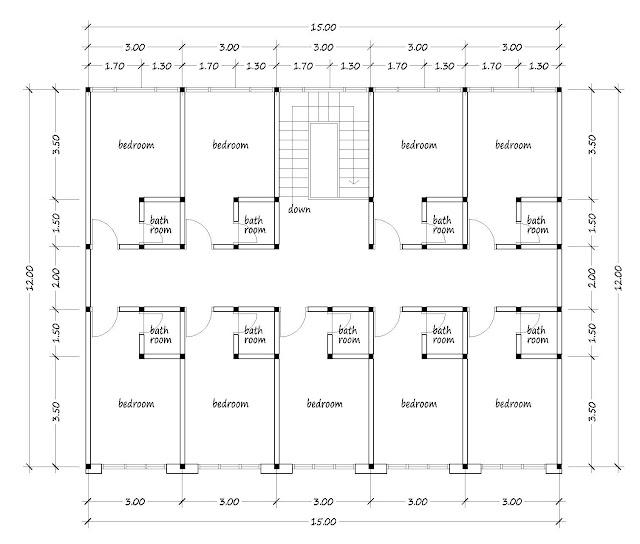 Boarding house plan 04