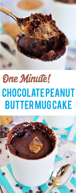 Easy Chocolate Peanut Butter Mug Cake