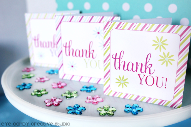free mini thank you cards, mini notecard freebie, free thank you cards