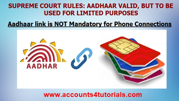 For phone connections aadhaar is not mandatory