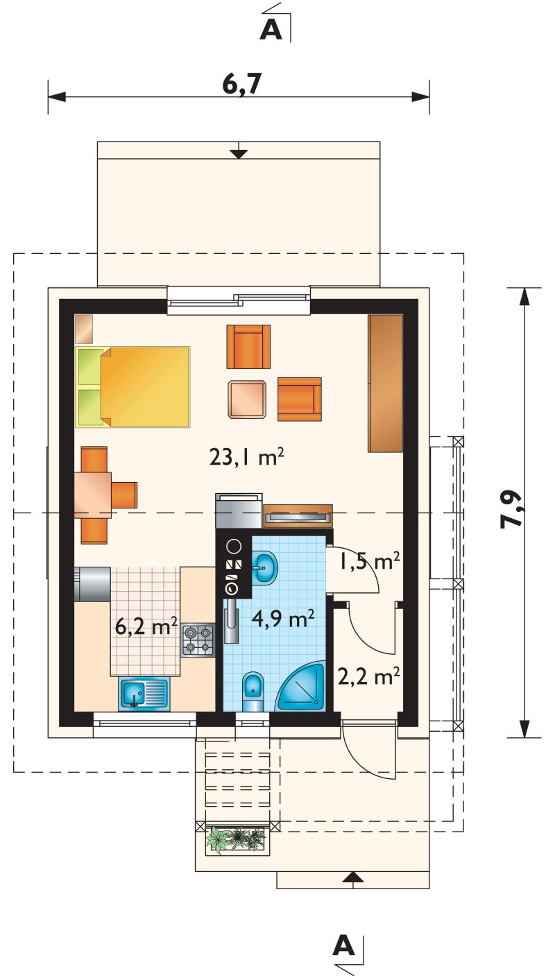 Prices of home lots are not expensive nowadays, especially in the rural areas. This is one of the reasons why many people choose to downsize their living and choose to have smaller homes. Making a house plan for a small lot is also challenging if you are not expert in this matter. That is why it is important to seek advice from your trusted builders or engineers to make a particular plan suited to the dimension of your lot.   In choosing a design of a small house, you should not worried that your home may not look beautiful. A small house can be homey, comforting and beautiful if you choose the right design base on the needs of your family. There are couples who want to have a single-bedroom home as their starter house while others choose to have a two or three-bedroom house as preparation for their growing families.  Looking for a small house design that can be considered as affordable living homes? You can browse this compilation from archeton.pl. Their house designs are cute and lovely perfect for every family! House design can be built in a lot area of less than 75 square meters. Floor plan included!