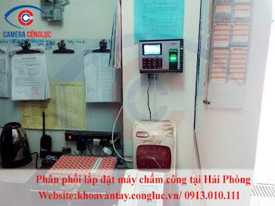 Lắp máy chấm công giá rẻ tại Hải Phòng
