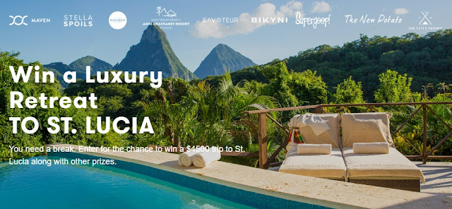 Maven, Stella Spoils, Savoteur and friends are offering fans a chance to enter once to win a luxury retreat vacation to the beautiful island of St. Lucia worth $4500!