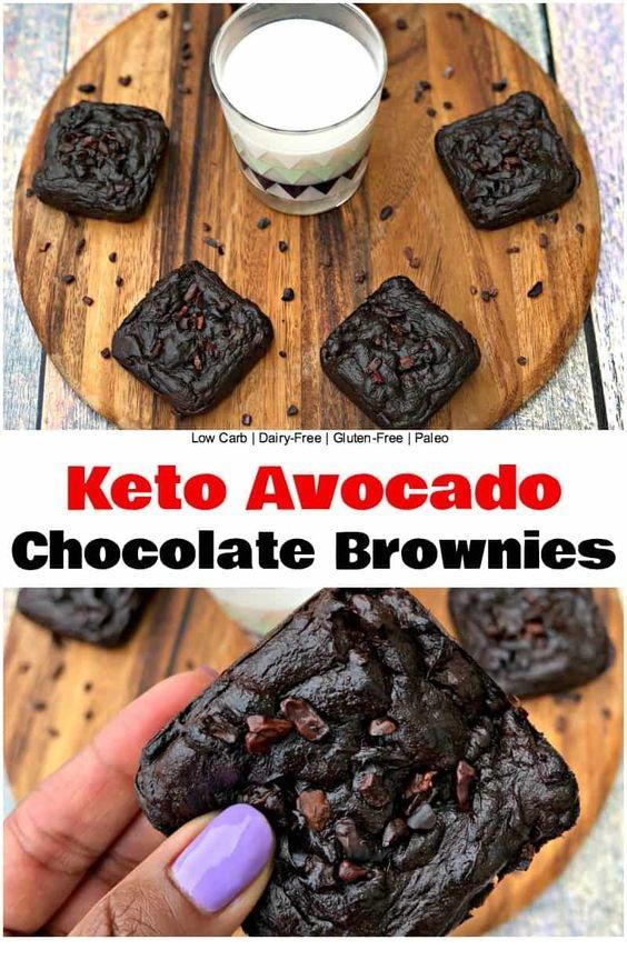 Flourless Keto Avocado Chocolate Brownies