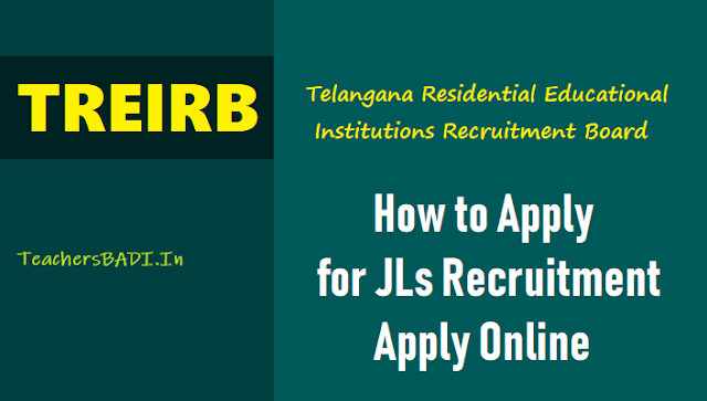 how to apply for treirb jls recruitment 2018,apply online,treirb jls online application form,treirb tecruitment exam fee,treirb online applying procedure,last date to apply for treirb jls recruitment