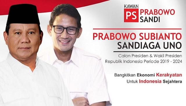 Prabowo Sandi, Yakin Menang Telak Pemilu Presiden 2019