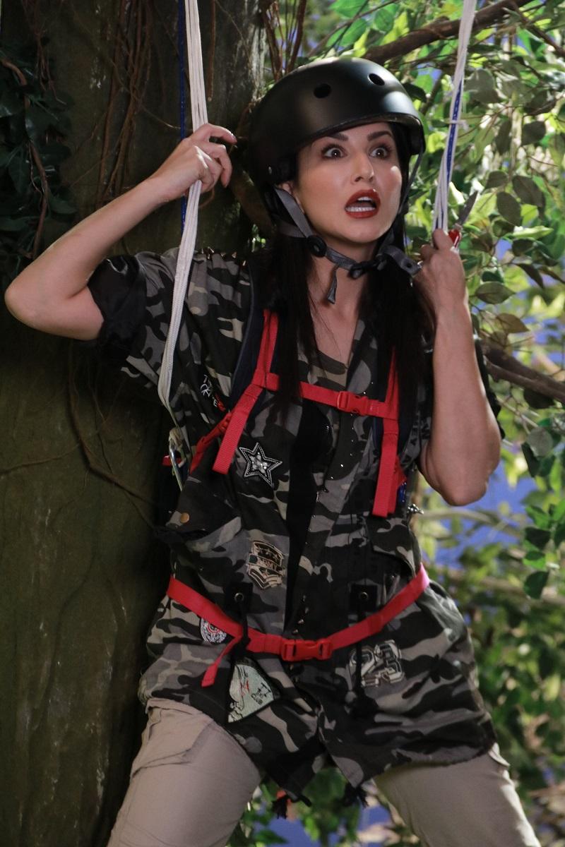 Sunny Leone with Fake Crocodile Photos in jungle
