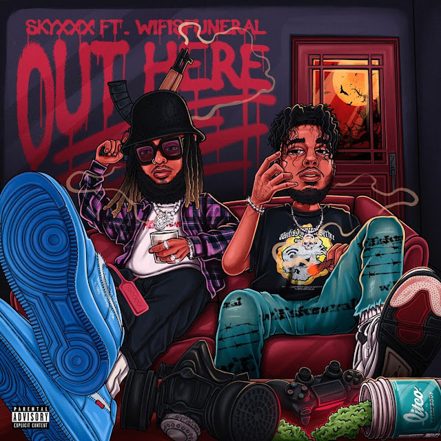 "RAPPER SKYXXX TEAMS UP WITH WIFISFUNERAL ON NEW SONG ""OUTHERE"""